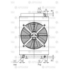 Маслоохладитель гидравлический МО2 200л/мин, 16квт